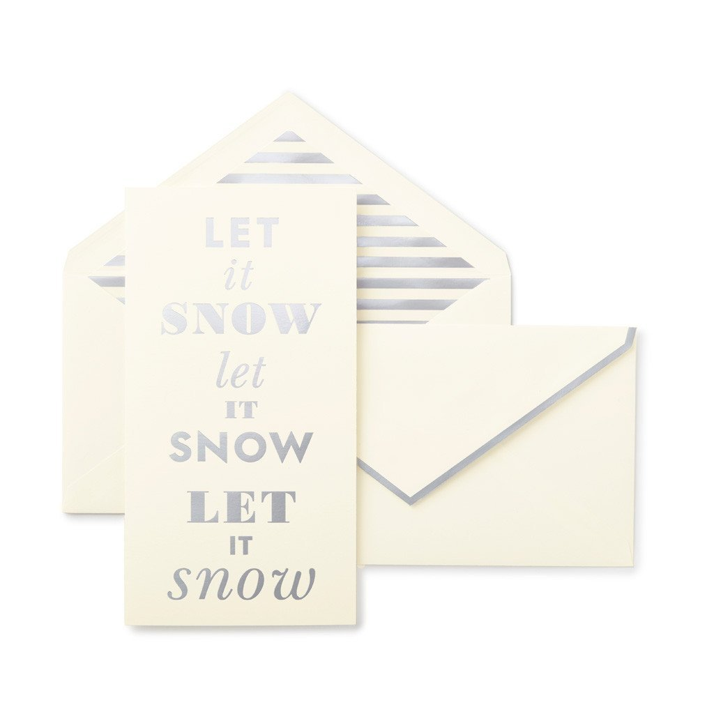 Kate Spade Let It Snow Holiday Card Set