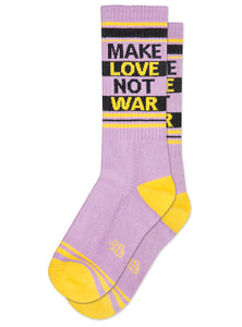 Gumball Poodle Make Love Not War Gym Socks