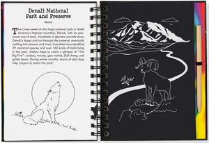 Peter Pauper Press Trace - Along Scratch and Sketch National Perks and Landmarks
