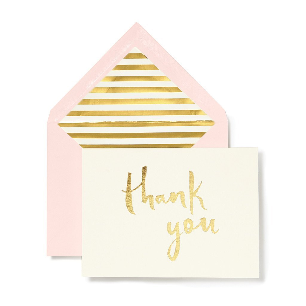 Kate Spade Paint Brush Thank You Card Set