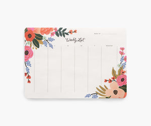 Rifle Paper Co. Lively Floral Weekly Desk Pad