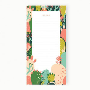 Prickly Pear Notepad - Petals and Postings