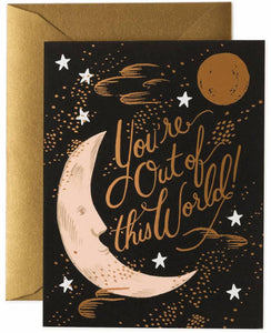 "Rifle Paper Co. ""You're Out of This World"" Card"