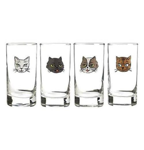 Cat Glasses - Set of Four