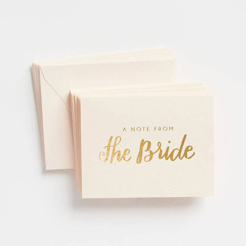 Paper Source Note From The Bride Boxed Cards