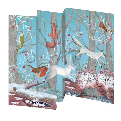 Roger la Borde Call of the Wild Trifold Christmas Cards