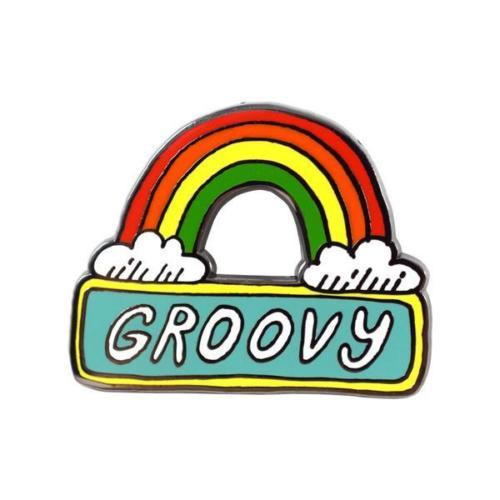 Groovy Rainbow Flair Pin - Petals and Postings
