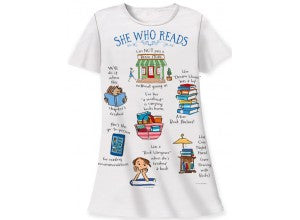 Relevant Products She Who Reads Sleep Shirt with Gift Bag