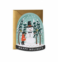 Load image into Gallery viewer, Rifle Paper Co. Snow Globe Holiday Greeting Card - Petals and Postings