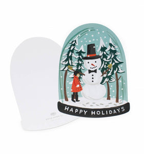 Rifle Paper Co. Snow Globe Holiday Greeting Card - Petals and Postings