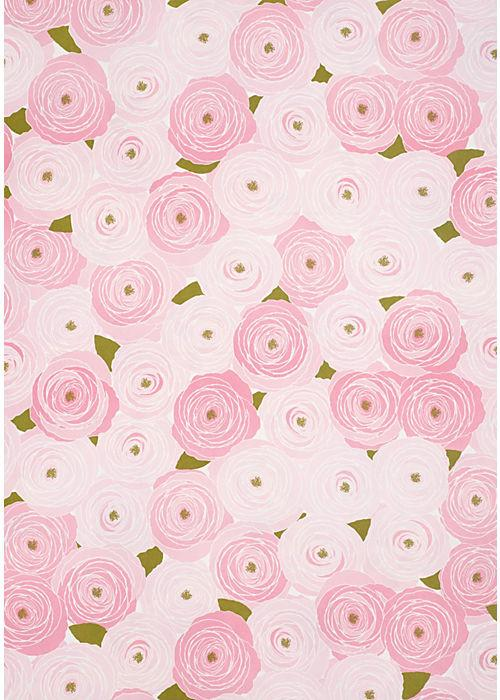 Holiday-SNOW & GRAHAM GARDEN ROSES WRAPPING PAPER - Petals and Postings