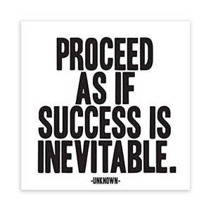 Quotable Success Is Inevitable Magnet