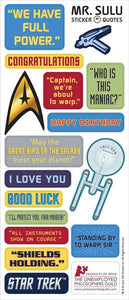 Lt. Sulu Greeting Card with Sticker Quotes
