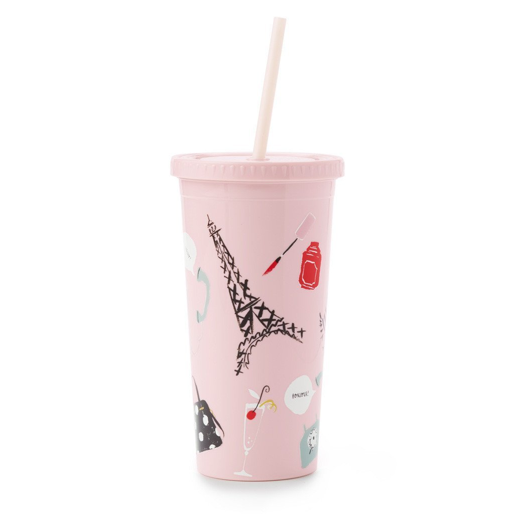 Kate Spade Paris Tumbler with Straw