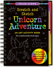 Load image into Gallery viewer, Peter Pauper Press Trace - Along Scratch and Sketch Unicorn Adventure