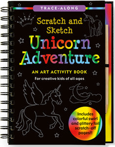 Peter Pauper Press Trace - Along Scratch and Sketch Unicorn Adventure