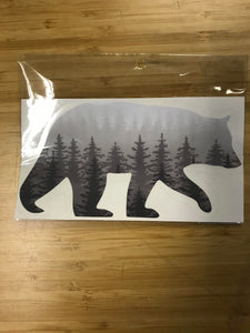Made in Michigan Forest Bear Sticker