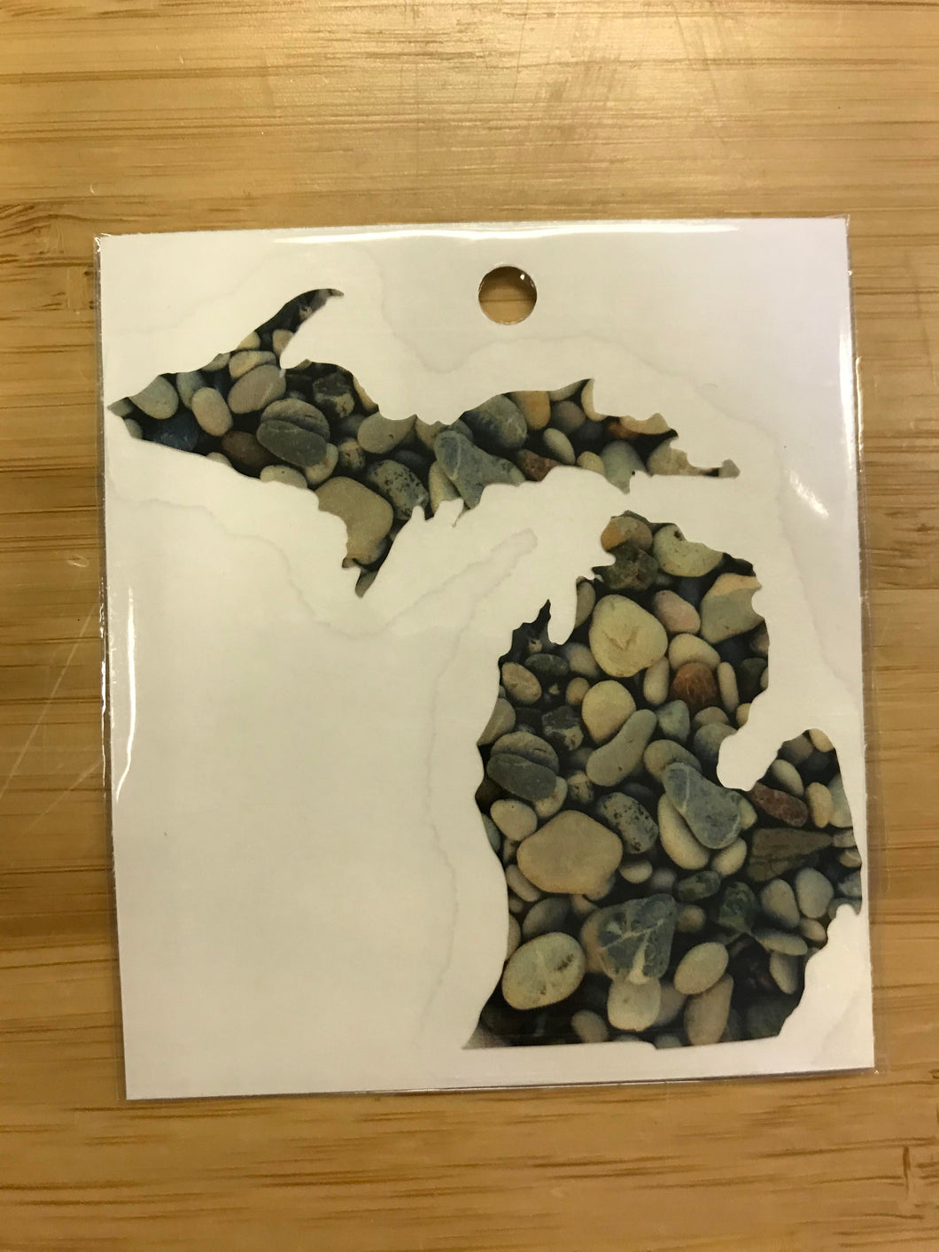 Made in Michigan Beach Rocks Sticker