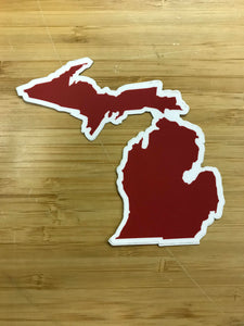 Midwest supply Co. Red Michigan Sticker