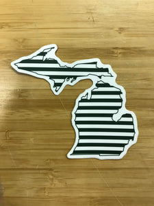 Midwest supply Co. Michigan Stripes Sticker