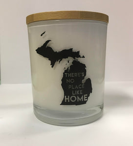 Unplug Soy Candles - Apple and Maple Bourbon with Michigan Print