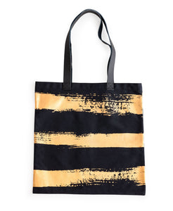Rosanna-Anything Goes Tote Gold Brush Stroke - Petals and Postings