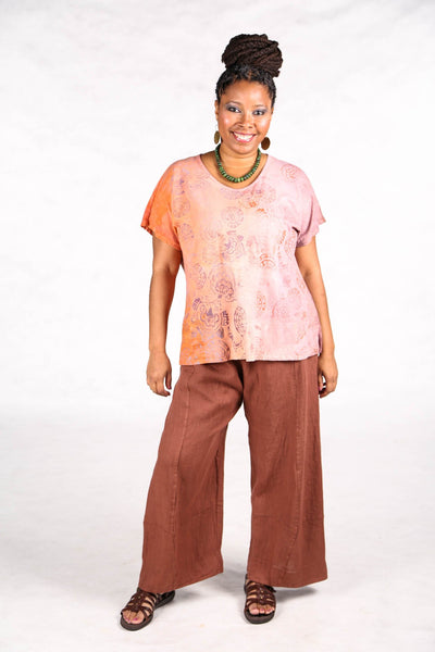 1250 HD Hand Dyed Moon Tee Sunset/Clementine Folkloric-P