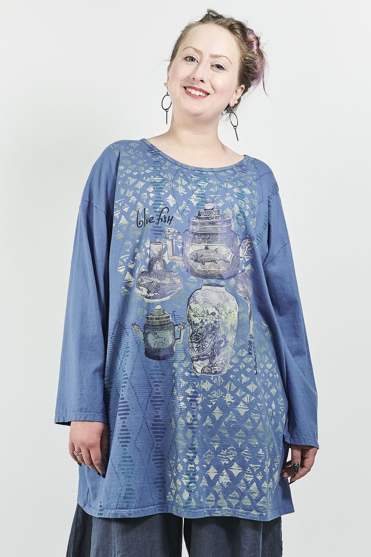 1157 Long Sleeve Studio Tee Azure-P