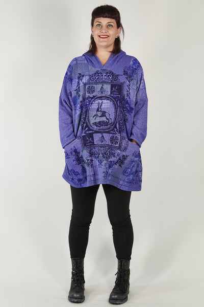 5271 Weekend Pullover Hoodie Blue Spectrum-Printed