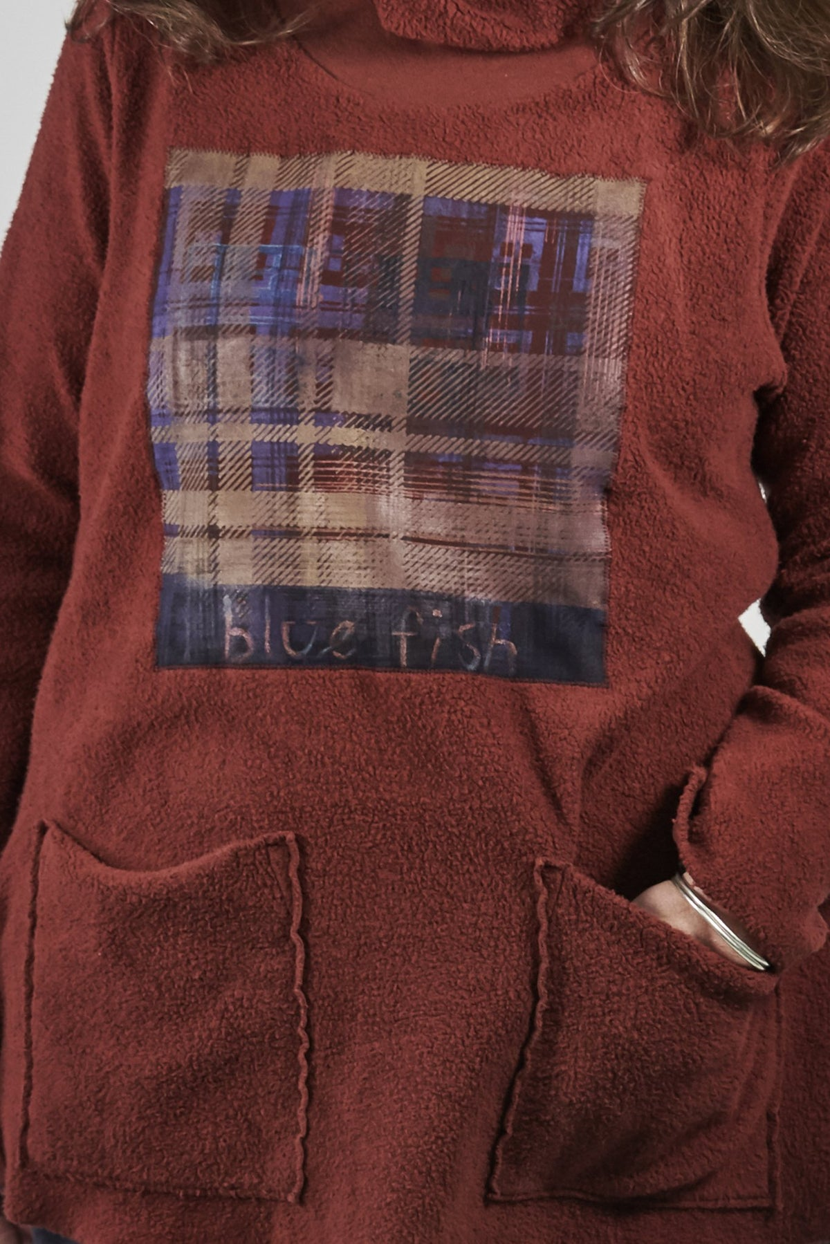1246 Sherpa L/S Pocket Cowl Russet-Patched