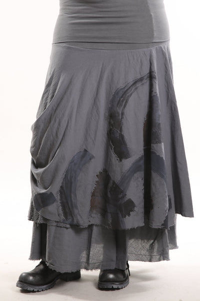 4113 Trilogy Skirt Tonal Graycious Hand Printed-P