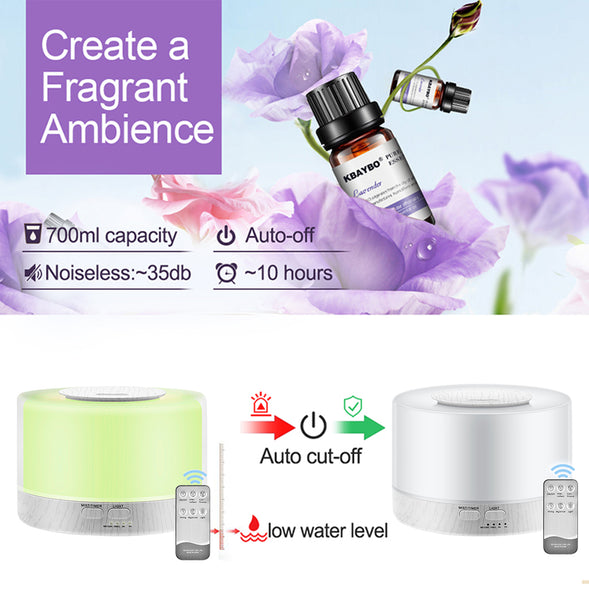 Aroma Diffuser with Remote - 700ml (Basolia)