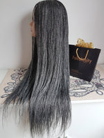 Million braids wig (Grey and Black)