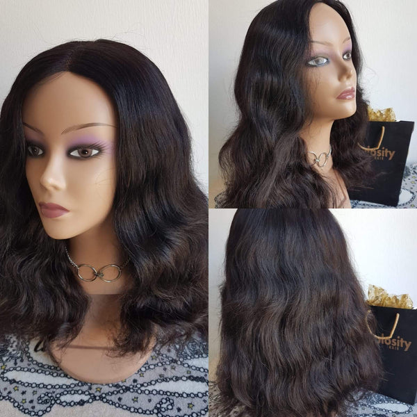 Weave wavy luxury wig (100%human hair)