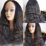 Weave wavy luxury wig  (100% human hair)