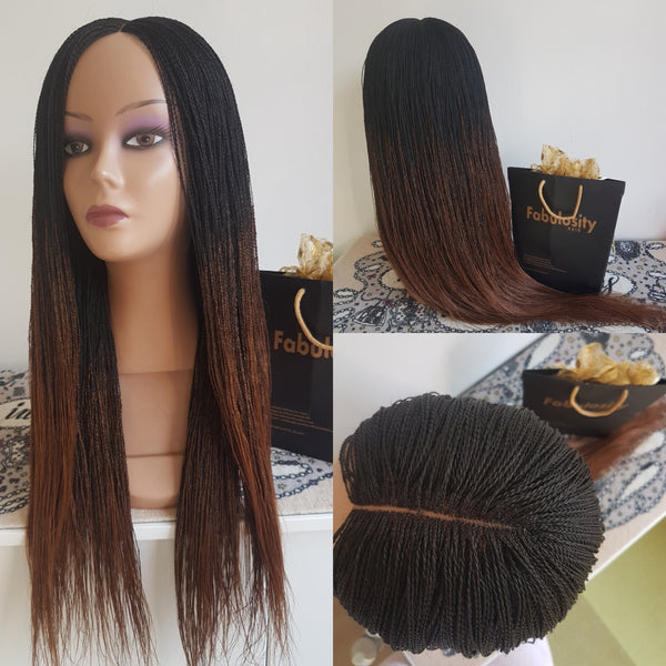 Million braids (Ombre black and brown)