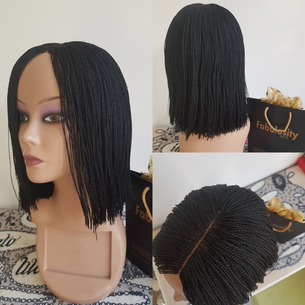 Million braids (Short blunt cut)