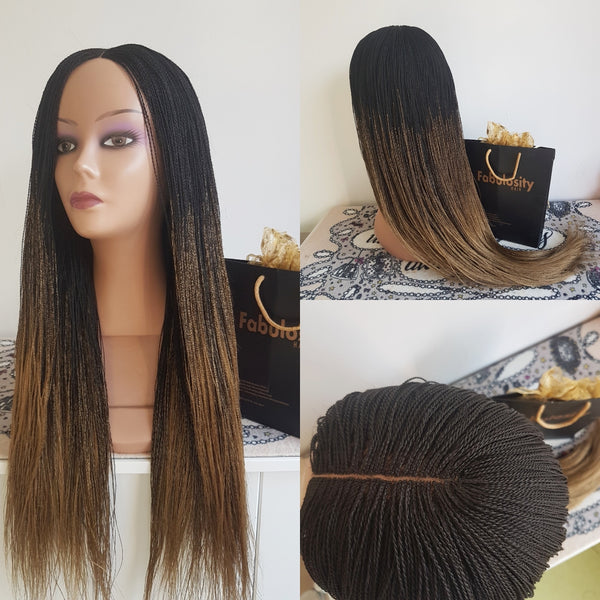 Million braids (Ombre black and gold)