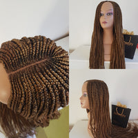 Wig frontal box braids