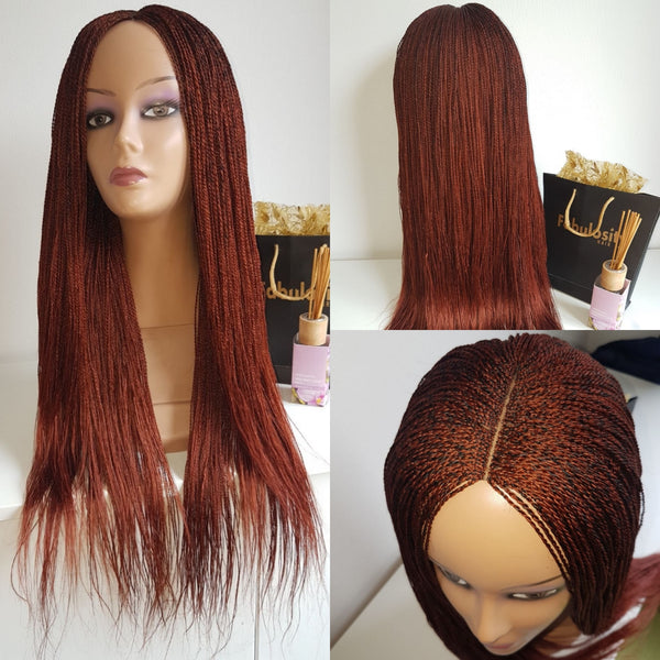 Million braids (Bright burgundy)