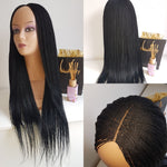 Braided wig with closure million twists (Black)