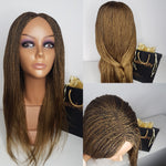 Braided wig in light brown colour