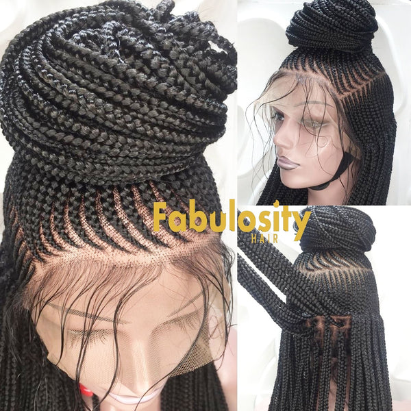Cornrow high ponytail  braided wig (Sheila)