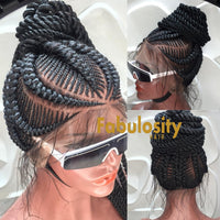 Cornrow full lace wig (DeeDee)