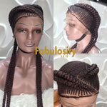 Cornrow full lace wig (Tasha) Deep burgundy