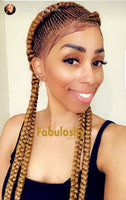 Cornrow full lace wig (Tasha) Light Brown