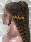 Cornrow full lace wig (Amelia)
