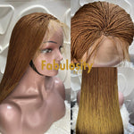 Million braids twists Ombre Frontal