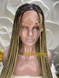 Knotless braided wig full lace wig 27 and 613 (Davina)