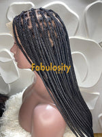 Knotless braided wig HD transparent lace  (Davina)